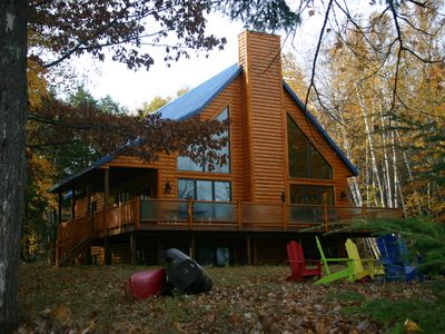 Photo for Trude Lake & Turtle Flambeau Flowage Luxury Waterfront Log Home