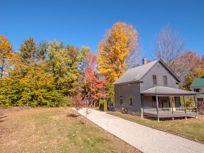 Photo for Modern family-style home steps away from the Saco River.