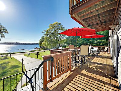 Photo for 4BR + Bonus Room,3.5BA East Boothbay Home with Stunning Bay Views and Sunsets