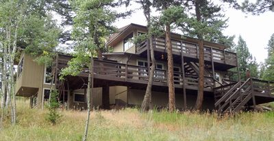 Photo for The Treehouse Mountain Home in Bailey Colorado | 4 Decks | Private wooded lot