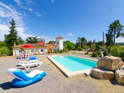 Photo for Club Villamar - Beautiful villa decorated with very peculiar style with private pool and large terrace