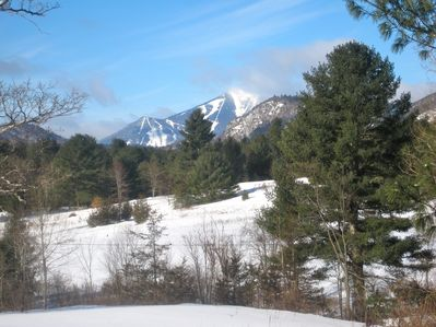Whiteface Mountain out the living room window! Ready for fun winter sports?