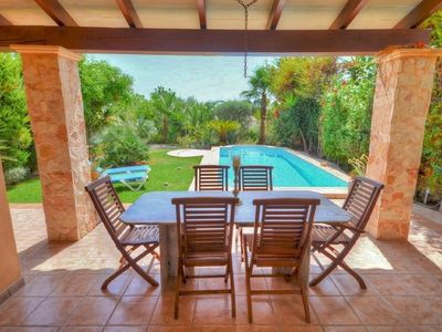 Photo for Mediterranean chalet with pool, sea views and beautiful garden in a quiet location