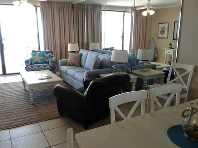 Photo for ALL SPRING RATES REDUCED BY 20%. BOOK FAST.  WC 1202 -   A Beautiful  3BD/2BA with a breathtaking Gulf front view. Lots of amenities. Quote comes with one parking pass.
