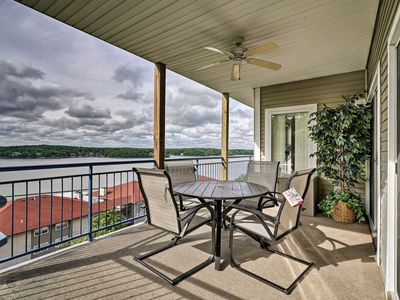 Photo for NEW! Waterfront Lake Ozark Condo w/ Deck & Pools