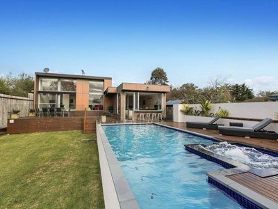 Photo for A luxe home with solar heated pool and gas heated spa