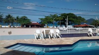 Photo for Beach Front Condo / Foot in the Sand, Balcony Grill with Great Beach View.