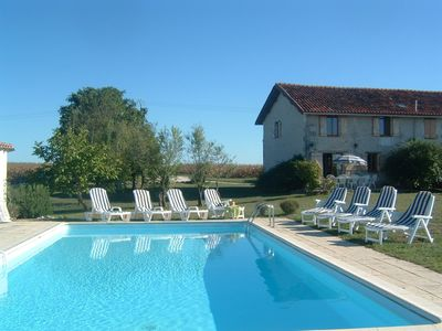 Photo for Lovely country house, private pool & great views. Bread 1km. Golf 3km. Free WiFi