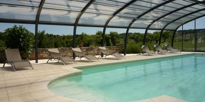 Photo for House of 175m², private pool, heated with high shelter and garden of 5000m²