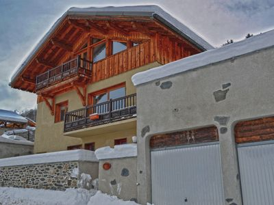Photo for Luxury Self Catered Alpine Chalet, Sleeps 10 (4 Bdrms) In The Heart Of Paradiski