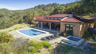 Photo for Healdsburg Villa on a Vineyard with Amazing Poolside Sunsets