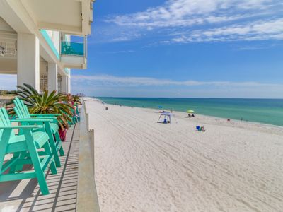 Photo for Beautifully renovated Gulf view studio on private beach! Snowbird rates!