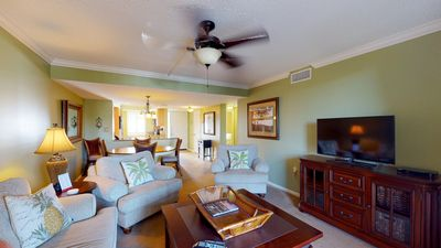 Photo for Upscale villa w/ shared pool, hot tub, full kitchen & more - beach nearby!