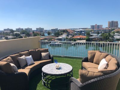 Photo for Lovely Waterfront Townhouse w/Rooftop Terrace just 5 min. stroll to the beach !