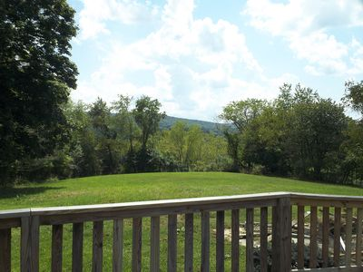 Beautiful views of the mountains from the large back deck with accessible ramp