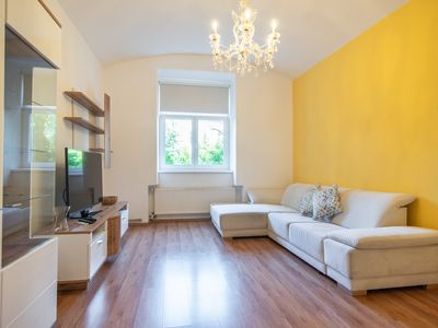 Photo for Colourful Zizkov two bedroom apartment near city centre by easyBNB