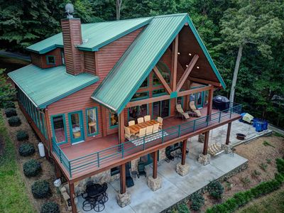 Photo for Your Lake Norman Cabin Lakefront Rental: Private Home | Lake Access | Sleeps 16