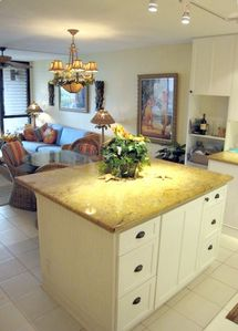 Solid Granite  new kitchen for gourmet meals