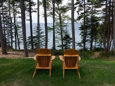 Enjoy the sunsets perched in the adirondak chairs