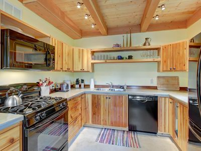 Photo for Rustic dog-friendly cabin with a wood stove and mountain views