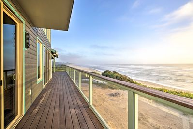 Explore the Oregon Coast from this Newport vacation rental house.