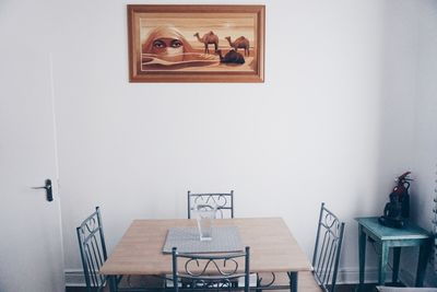 Eating space in kitchen on 1st floor.