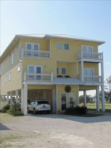 Front view of beach house