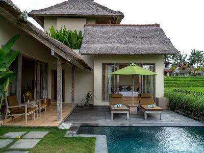 Photo for Best Rice Field View Villa at Ubud 1BR