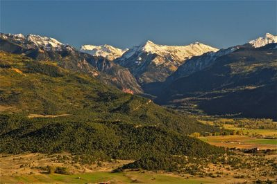View toward Ouray and Ridgway valley from rear porch