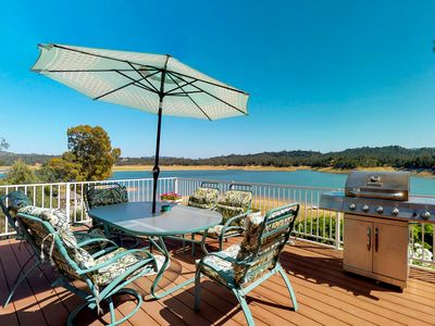 Photo for Lakefront home with shared pool, water views, and free WiFi!