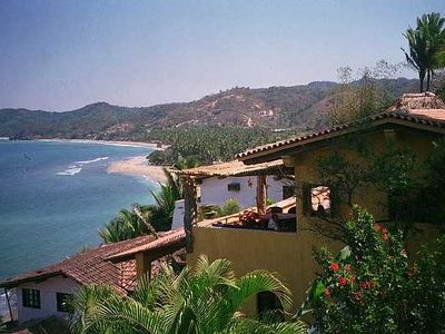 Casa Jardin and Casa Carlos below.  Property above beach and 5 mintues to town.