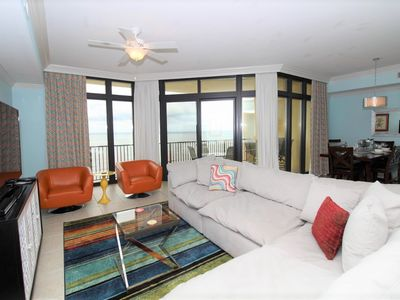Photo for Phoenix West II 1602- Beach Front View, Large Terrace, Lazy River!