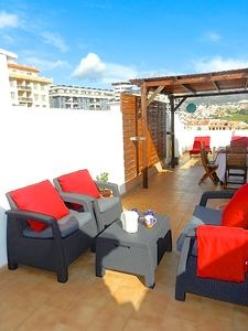 Photo for € 795 / MONTH. PENTHOUSE NEAR BEACH, SOLARIUM PRIVATE INTERNET, TV SAT, A / C, POOL