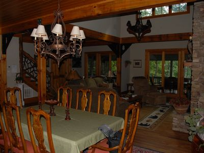 Photo for Luxury home, minutes from town, 4 bedroom suites, WIFI, mountain view