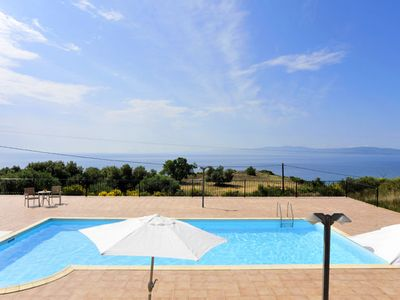 Photo for Villa Katelios is set in an elevated position on the outskirts of the tiny village of Ratzakli betwe