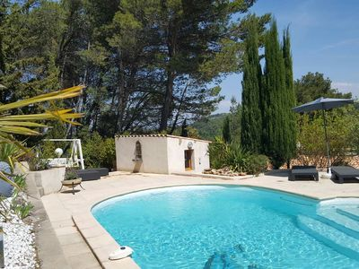 Photo for Located in a beautiful pine forest, charming independent apartment.