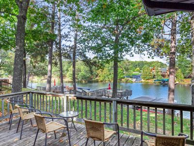 Photo for Lakefront, dog-friendly villa w/ shared tennis court, private deck & fireplace!