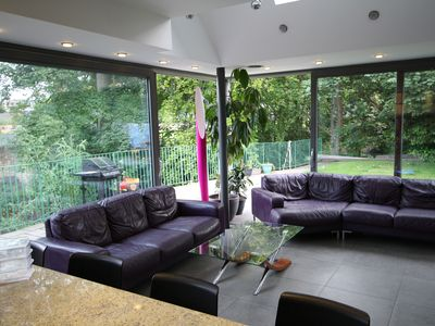Photo for Luxury modern, large house close to citycentre, overlooking the river with patio
