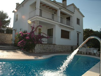 Photo for CAL VIVES Vacation House with private pool and tennis 8km from Sitges