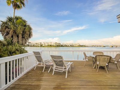 Photo for Private Deck Overlooking Waterfront-Dock/Kayak/Bikes. Walk To Beach. Pets OK