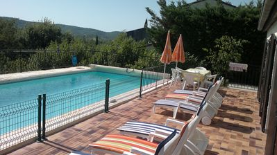 Photo for Independent quiet cottage with heated pool in southern Ardèche 6/7 persons