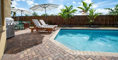 Photo for ** HEATED POOL, LARGE GORGEOUS 4BR HOME IN FORT LAUDERDALE AREA  (SLEEPS 10) **