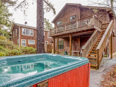 Photo for Versatile 4-Bed Beauty has Game Room, Hot Tub, One Block from Manzanita Beach!