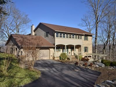 Photo for Spectacular long-range mountain views, private but not secluded, close to Downtown Hendersonville!