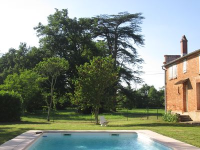 Photo for Gîte Chasselas, 15 people in 18th century castle with swimming pool