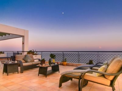 Photo for First line beach penthouse in Mi Capricho with panoramic sea views