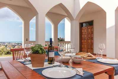 "Dine ""al fresco"" while you enjoy spectacular panoramic views"