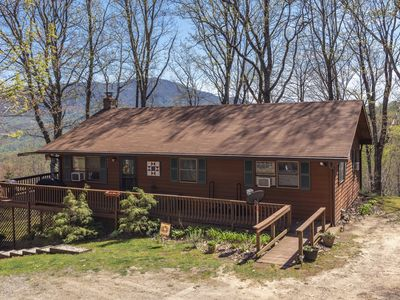 Photo for Mountain Hideaway at 4,000' - Hot Tub & Wraparound Deck w/ Expansive  Views!