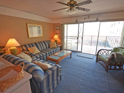 Photo for Traditional 1 Bedroom Oceanfront Condo with Free WiFi, an Outdoor Pool, and a Wonderful View Located in Midtown and Mere Steps to the Beach!