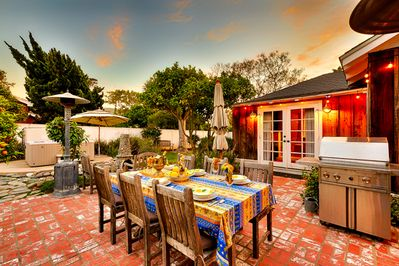 Secluded backyard haven for al fresco dining and enjoying our wonderful climate too!